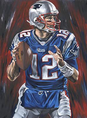 Tom Brady Poster by David Courson