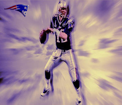 Tom Brady In The Pocket Poster by Brian Reaves