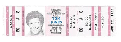Tom Jones 1988 Ticket Stub Poster Poster by Alain Jamar