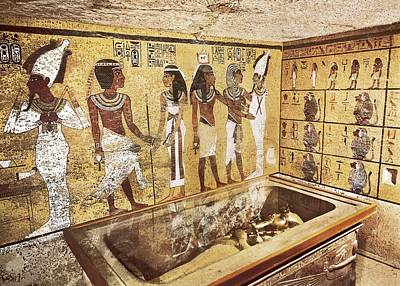 Tomb Of Tutankhamun. S.xiv Bc. Egypt Poster by Everett