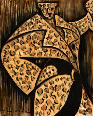 Cheetah Fur Coat Art Print Poster by Tommervik