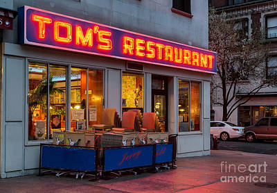 Tom's Restaurant Poster by Jerry Fornarotto