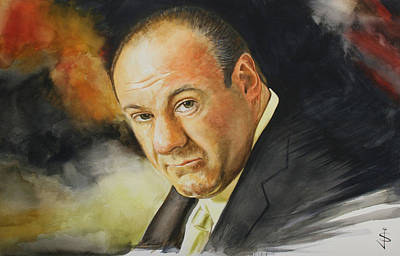 Tony Soprano Poster by Jan Szymczuk