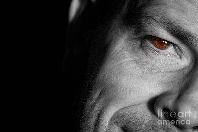 Tony Staring Poster by Antony McAulay