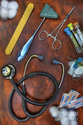 Tools Of The Trade In Orange - Nurse Poster by Lee Dos Santos