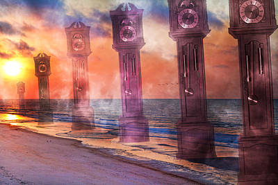 Topsail Island A Matter Of Time Poster by Betsy C Knapp