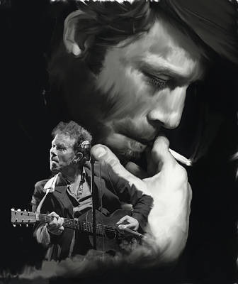 Torn Pages Tom Waits  Poster by Iconic Images Art Gallery David Pucciarelli