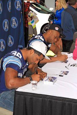 Toronto Argonauts Players Signing Autographs Poster by Valentino Visentini