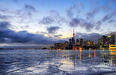 Toronto Harbour Ice Poster by Charline Xia