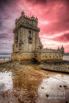 Torre De Belem Lisboa Poster by English Landscapes