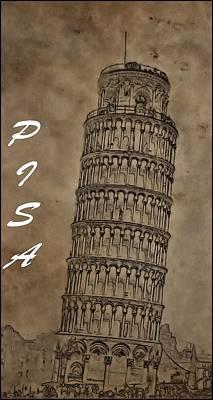 Torre De Pisa Poster by Dan Sproul