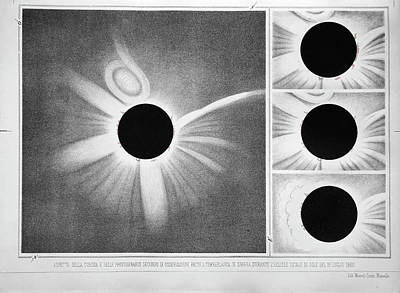 Total Solar Eclipse Of 18 July 1860 Poster by Royal Astronomical Society