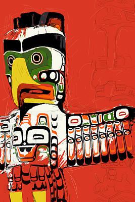 Totem Pole 02 Poster by Catf