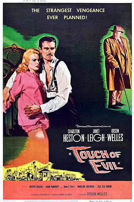 Touch Of Evil, From Left Janet Leigh Poster by Everett