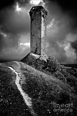 Tour De La Clauze Tower. Haute-loire Department. France Poster by Bernard Jaubert