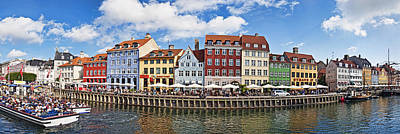 Tourists In A Tourboat With Buildings Poster by Panoramic Images
