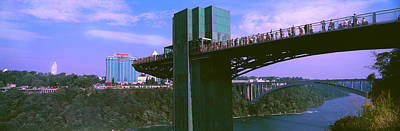 Tourists On Observation Tower, Niagara Poster by Panoramic Images