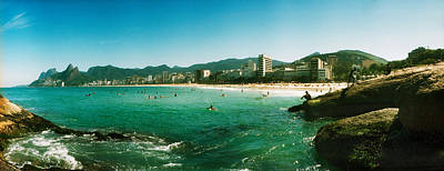 Tourists On The Beach, Ipanema Beach Poster by Panoramic Images