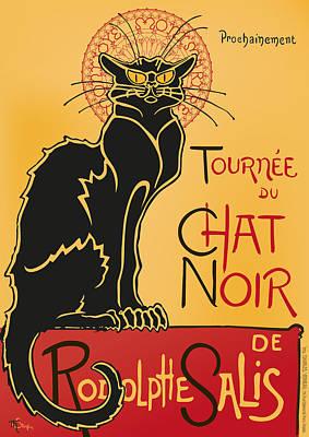 Tournee Du Chat Noir - Black Cat Tour Poster by RochVanh