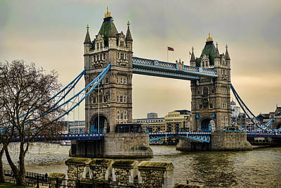 Tower Bridge On The River Thames Poster by Heather Applegate