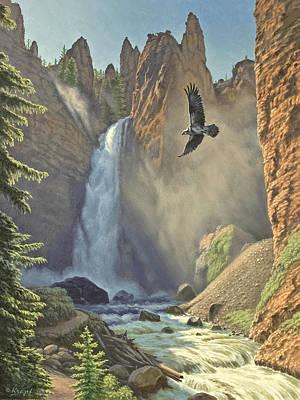 Tower Falls  Poster by Paul Krapf