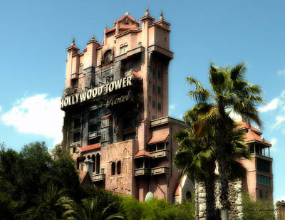 Tower Of Terror Walt Disney World Poster by Thomas Woolworth