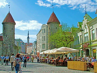 Towers As Gateways To Old Town Tallinn-estonia Poster by Ruth Hager