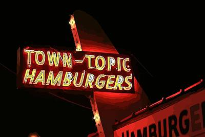 Town-topic Hamburgers Red Poster by Elizabeth Sullivan