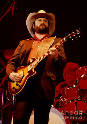 Toy Caldwell Of The Marshall Tucker Band At The Cow Palace Poster by Daniel Larsen