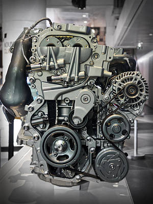 Toyota Engine Poster by RicardMN Photography