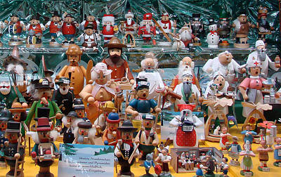 Toys And Nutcrackers For Sale Poster by Ronda Broatch