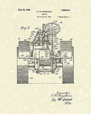 Tractor 1928 Patent Art Poster by Prior Art Design