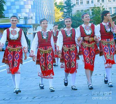 Traditional Bulgarian Ensemble Poster by Violeta Ianeva