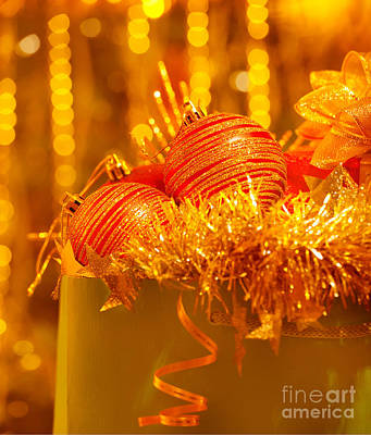 Traditional Christmas Decoration Poster by Anna Omelchenko