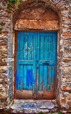 Traditional Door 2 Poster by Emmanouil Klimis