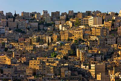 Traditional Houses In Amman, Jordan Poster by Keren Su