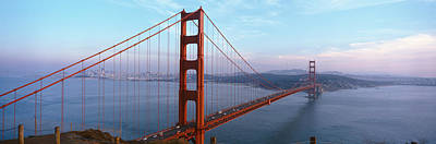 Traffic On A Bridge, Golden Gate Poster by Panoramic Images