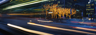 Traffic On The Street At Night, Sixth Poster by Panoramic Images