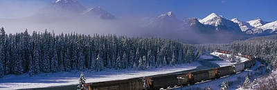 Train Banff National Park Alberta Canada Poster by Panoramic Images