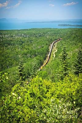 Train In Northern Ontario Poster by Elena Elisseeva