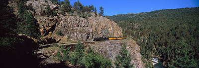 Train Moving On A Railroad Track Poster by Panoramic Images