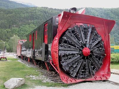 Train Snowplow Poster by Steven Parker