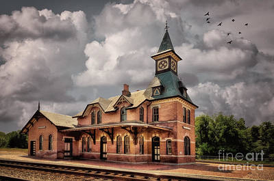 Train Station At Point Of Rocks Poster by Lois Bryan