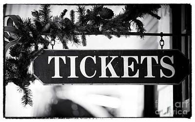 Train Tickets Poster by John Rizzuto