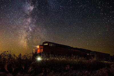 Train To The Cosmos Poster by Aaron J Groen