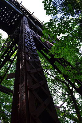 Train Trestle In The Woods Poster by Michelle Calkins