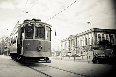 Tram In Oporto Poster by Maria Conceicao Pires - Lightfactory