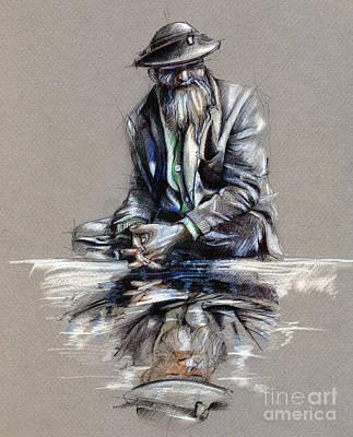 Transcendental Meditation - Drawing Poster by Daliana Pacuraru