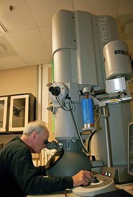 Transmission Electron Microscopy Poster by Jim West