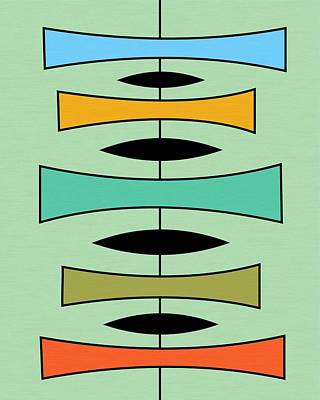 Trapezoids Poster by Donna Mibus